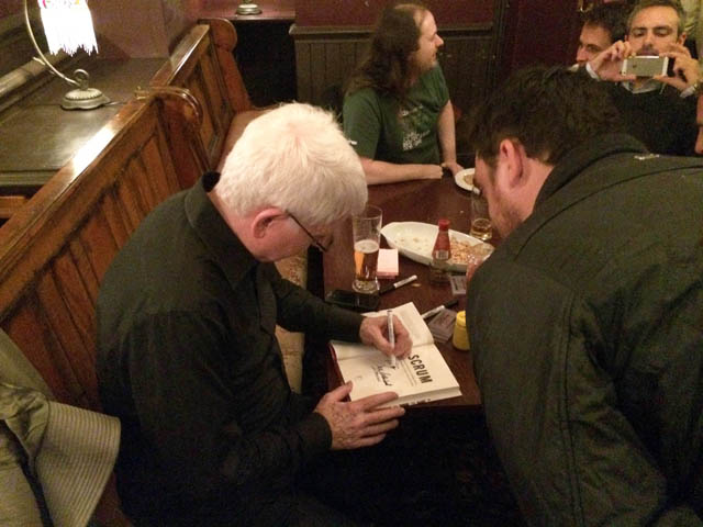 Jeff Sutherland Signing His New Book For Sam Rowley